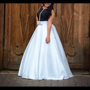 Black & White Ballgown Dress
